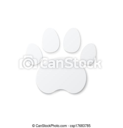 Shiny Plastic Trace of Cat. - csp17683785