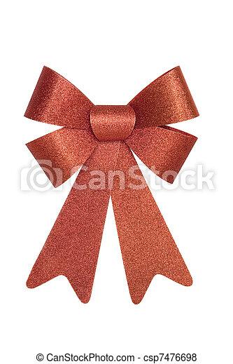 Shiny Red Bow - csp7476698