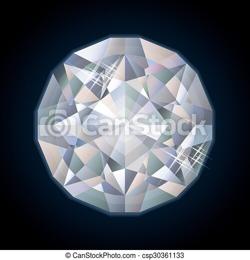 Shiny royalty diamond, vector - csp30361133