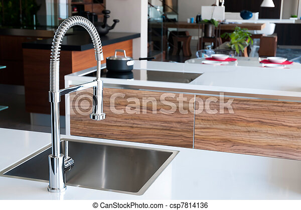 Shiny stainless steel faucet  - csp7814136