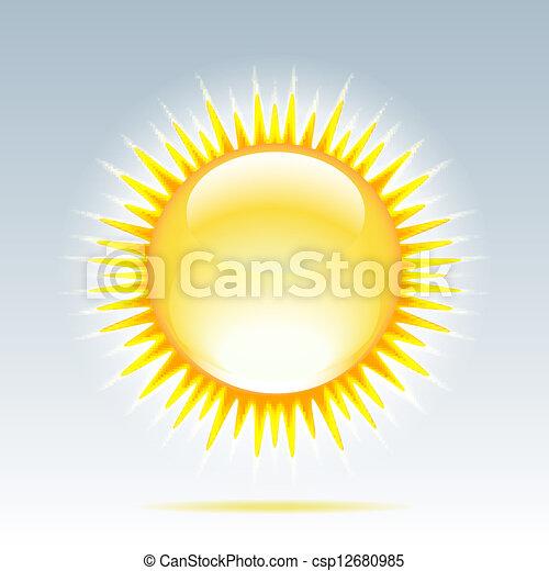 Shiny sun in the sky - csp12680985