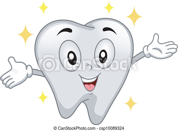 Shiny Tooth Mascot - csp10089324