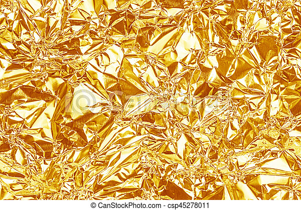shiny yellow gold foil texture for background and shadow crease csp45278011