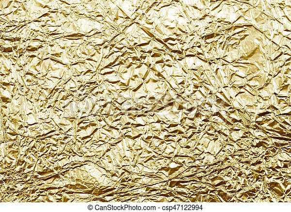 shiny yellow leaf gold foil texture csp47122994