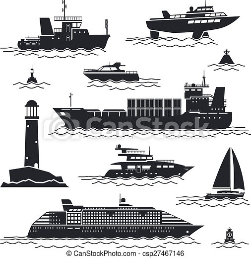Ship and boat icons - csp27467146