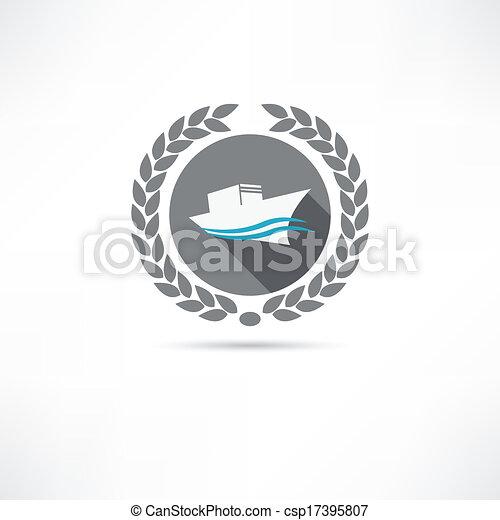 ship icon - csp17395807