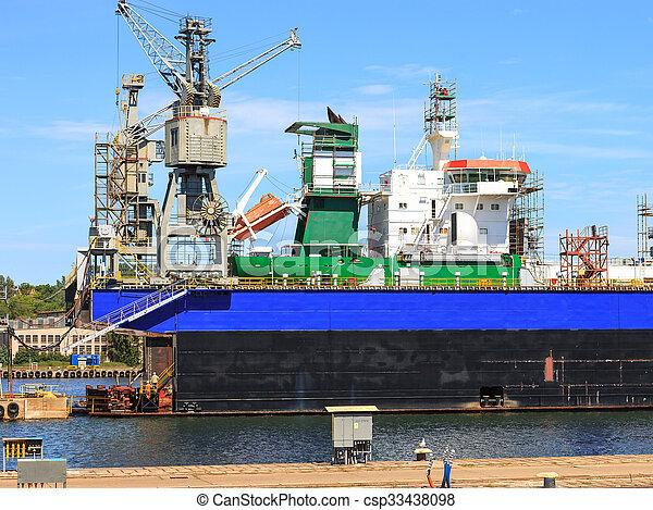 Ship In Dry Dock - csp33438098
