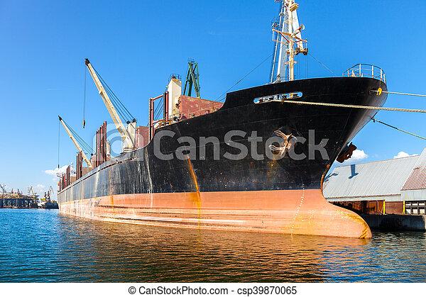 Ship in port - csp39870065