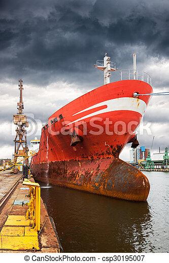 Ship in port - csp30195007