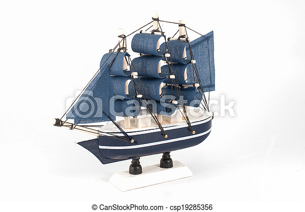 Ship model isolated - csp19285356