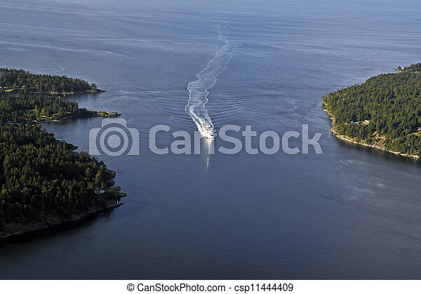 Ship on the sea - aerial - csp11444409