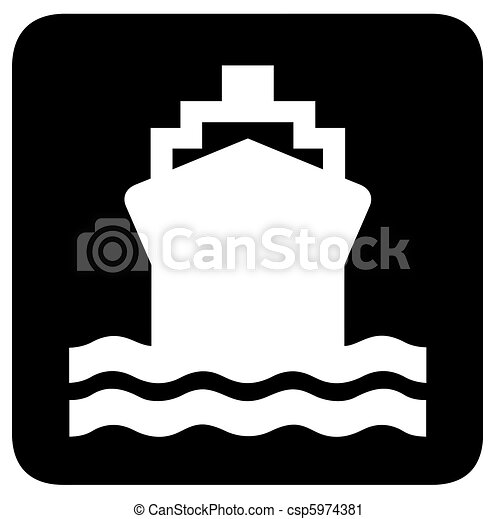 Ship Or Boat Sign Or Symbol Isolated On White Background