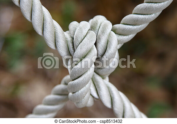 Ship rope with knot - csp8513432