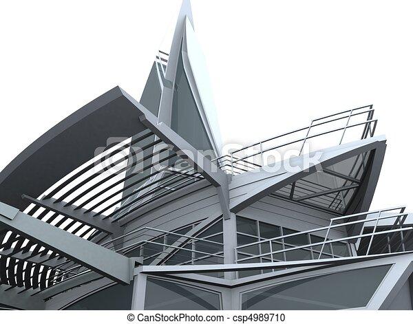 Ship Shape Building Glass Hous - csp4989710