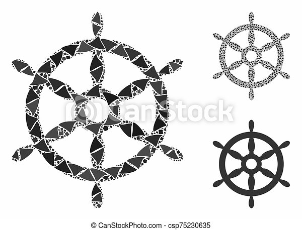Black Steering Wheel Icon Isolated On Stock Vector (Royalty Free) 1327963598