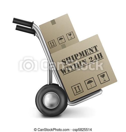 shipment within 24h cardboard box trolley - csp5825514