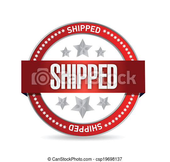 shipped, conception, illustration, cachet - csp19698137