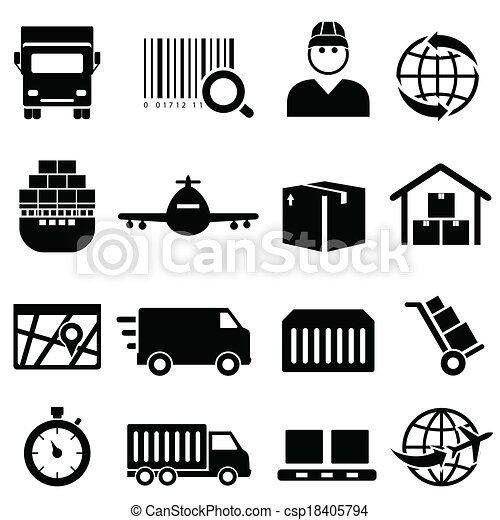 Shipping and cargo icons - csp18405794