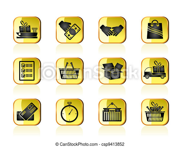 Shipping and logistic icons - csp9413852