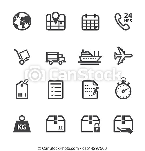 Shipping and Logistics Icons - csp14297560