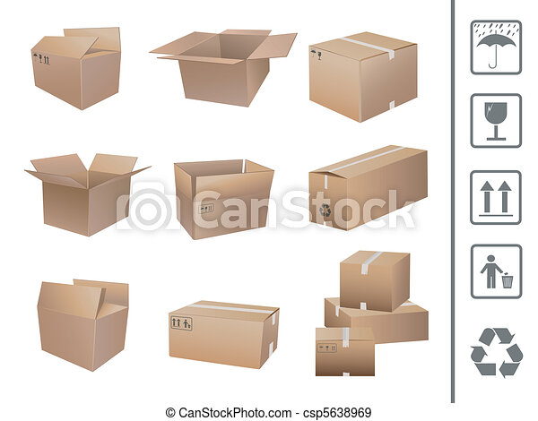 shipping boxes collection - csp5638969