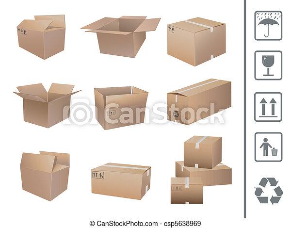 shipping boxes collection - csp5638969