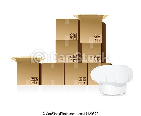 Shipping food concept illustration - csp14120573
