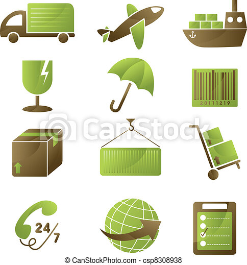 Shipping icons - csp8308938