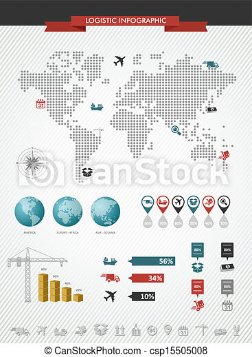 Shipping logistic infographic world map icons set vector shipping logistic infographic world map icons set illustration gumiabroncs Gallery