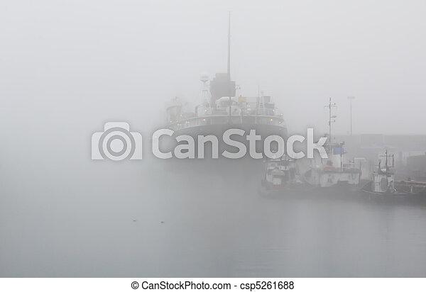 ships in fog - csp5261688