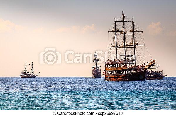 Ships in the Mediterranean - csp26997610