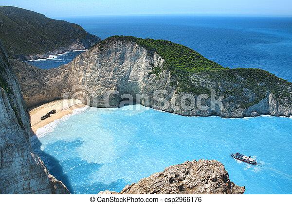Shipwreck Bay panorama - csp2966176