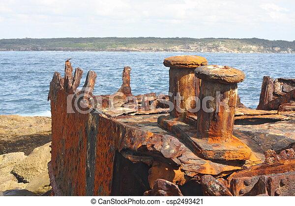 Shipwreck of SS Minmi in Sydney - csp2493421