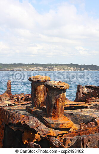 Shipwreck of SS Minmi in Sydney - csp2493402