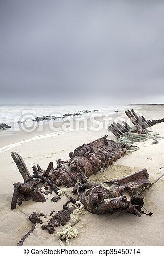 Shipwreck on Skeleton Coast - csp35450714