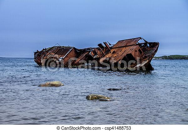 Shipwreck Red Bay Labrador - csp41488753