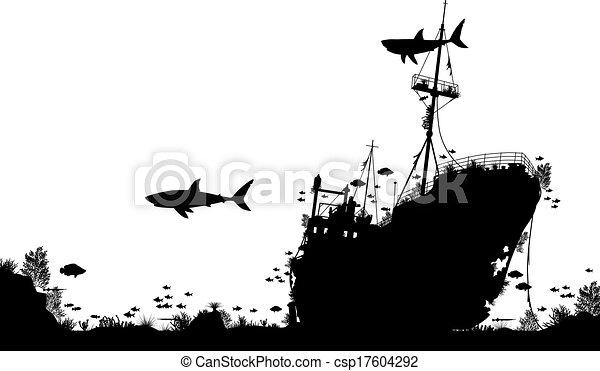 Shipwreck reef - csp17604292