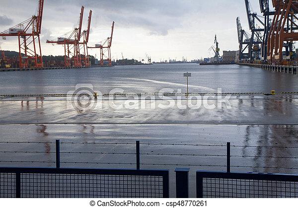Shipyard in Gdynia (Poland) - csp48770261