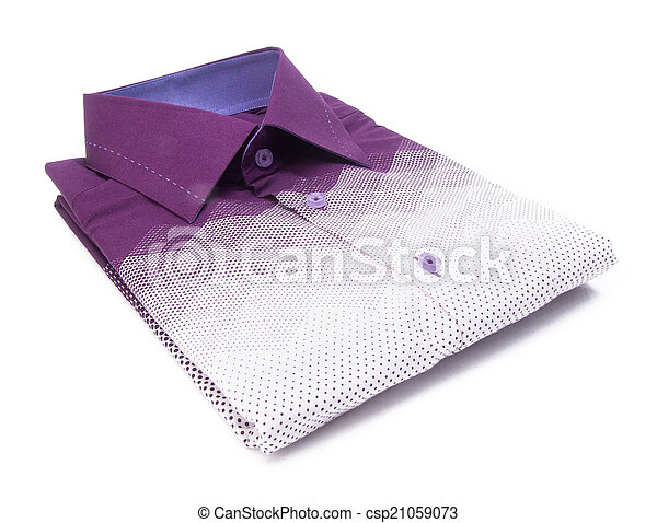 shirt. mens shirt folded on a background - csp21059073