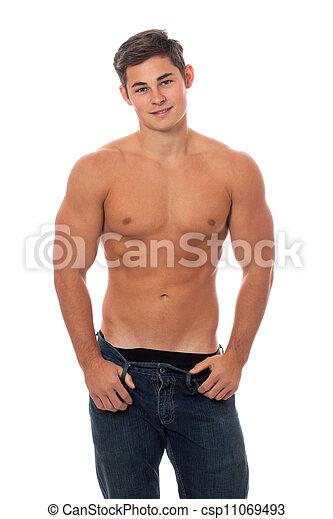 shirtless, attraente, uomo - csp11069493