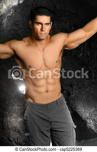 shirtless, culturista - csp5225369