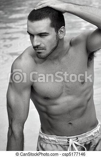 Shirtless man - csp5177146