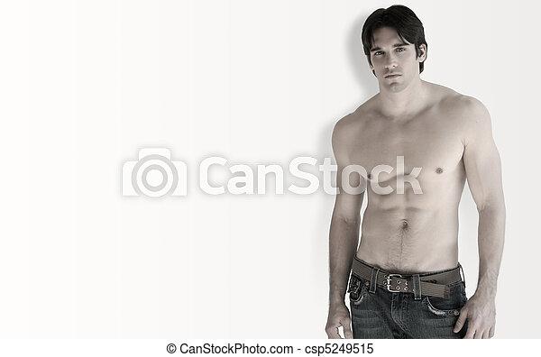 Shirtless man - csp5249515