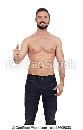 Shirtless man - csp45605033
