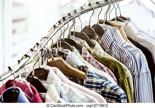 Shirts on hangers - csp12719812