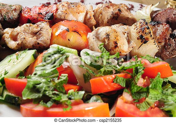 shish, insalata, kebab - csp2155235