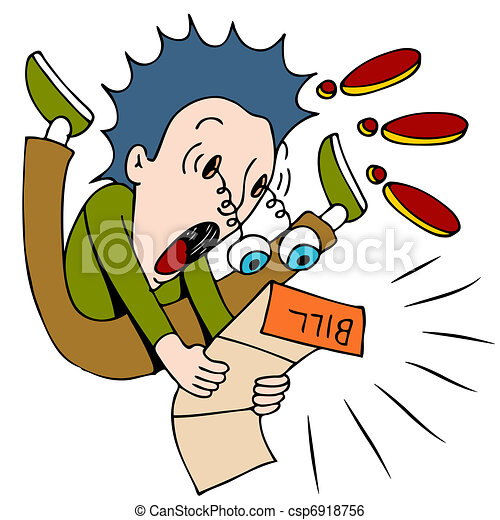 shocked by the bill an image of a man shocked at how clip art rh canstockphoto com clip art stockade clip art stock photos free