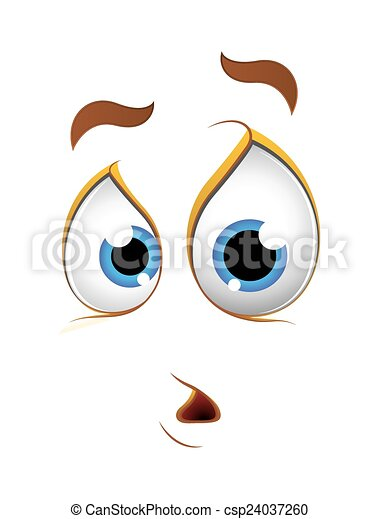cartoon surprised shocked face expression vector clip art vector