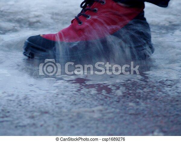Shoe in water - csp1689276