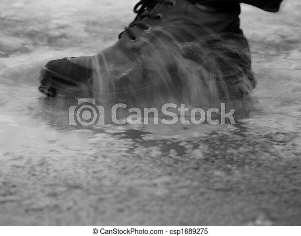 Shoe in water - csp1689275